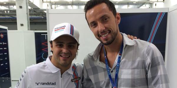 Nenê au GP de Bahreïn avec Felipe Massa.